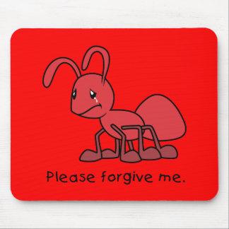Por favor perdóneme la almohada roja gritadora de tapete de ratones