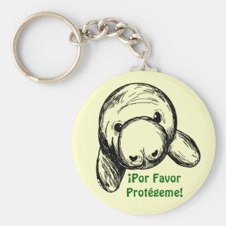 ¡Por Favor, Protégeme! Basic Round Button Keychain