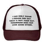 Por favor solamente 1 gorra de la persona 2