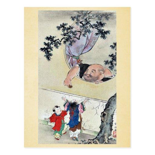 por Hasegawa, Settei Ukiyo-e. Tarjetas Postales