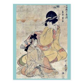 por Kitagawa, Utamaro Ukiyo-e. Postales