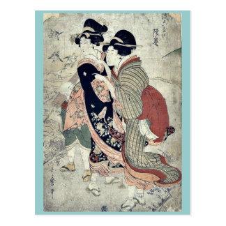 por Kitagawa, Utamaro Ukiyo-e. Tarjeta Postal