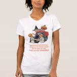 Por la camiseta gorda del arte de Halloween del