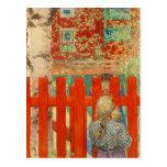Por la cerca tarjetas postales