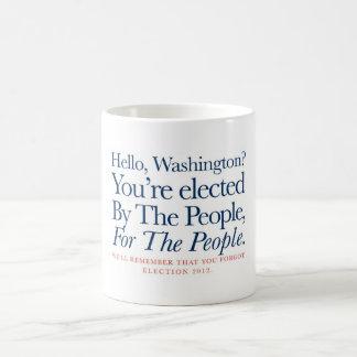 Por la gente, para la gente taza de café