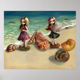 Por la impresión de hadas del arte del océano de l impresiones