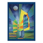 Por la luz de la luna plateada invitación 12,7 x 17,8 cm