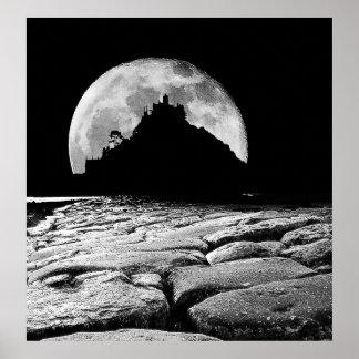 Por la luz de la luna plateada póster