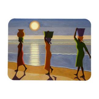 Por la playa 2007 iman de vinilo