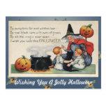 Por la postal gorda del arte de Halloween del vint
