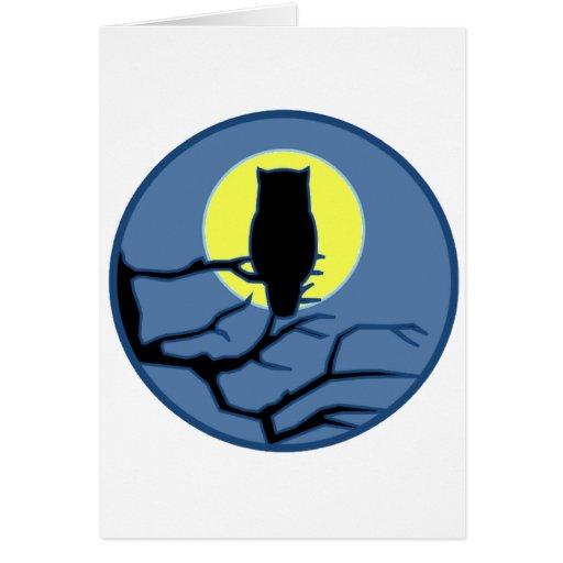 Por la sombra de la luna tarjeta de felicitación