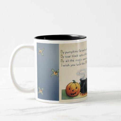 Por la taza de café gorda del arte de Halloween de