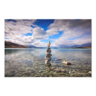 Por las aguas afile, lago Tekapo Nueva Zelanda Fotos