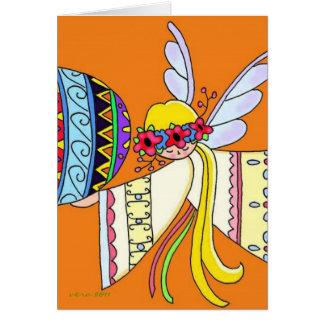 Por las alas de un arte popular ucraniano del ánge felicitacion