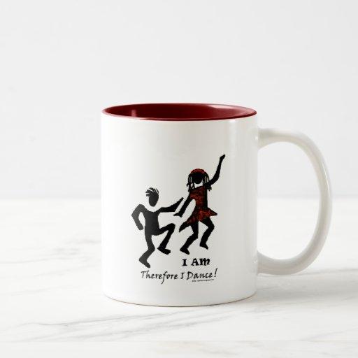 Por lo tanto bailo taza de café