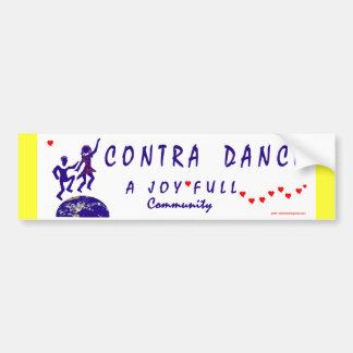 Por lo tanto yo contra danza etiqueta de parachoque