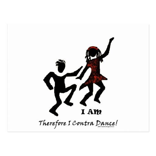 Por lo tanto yo contra danza tarjetas postales