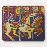 POR los caballos Mousepad del carrusel Alfombrilla De Raton