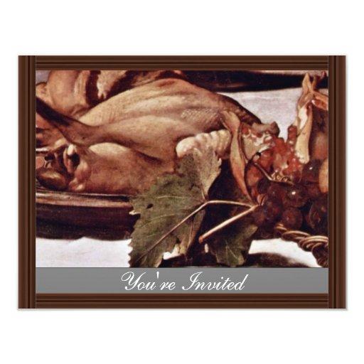 Por Miguel Ángel Merisi DA Caravaggio Invitación 10,8 X 13,9 Cm