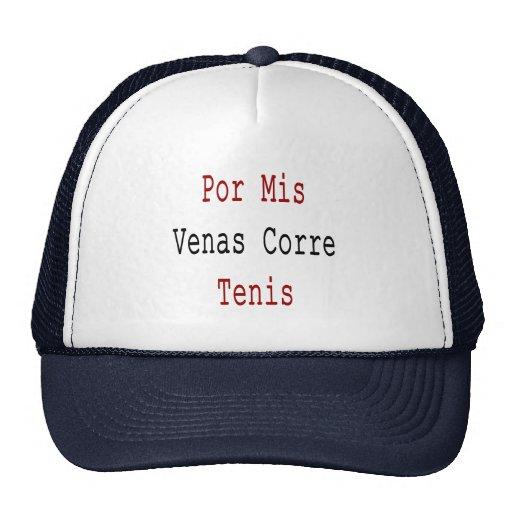 Por Mis Venas Corre Tenis Mesh Hats