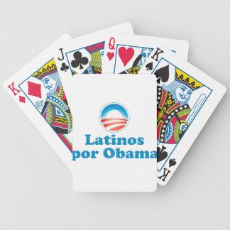 Por Obama de los Latinos Barajas De Cartas