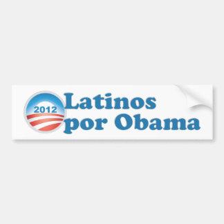 Por Obama de los Latinos Etiqueta De Parachoque