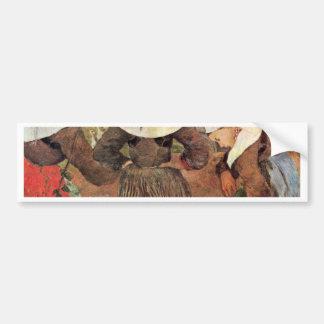 Por Paul Gauguin (la mejor calidad) Pegatina De Parachoque
