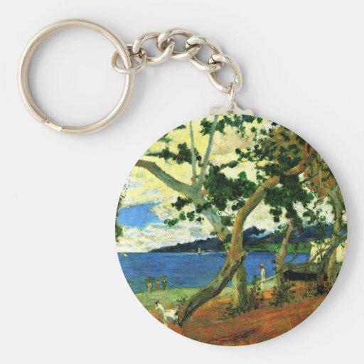 Por Paul Gauguin (la mejor calidad) Llavero