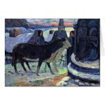 Por Paul Gauguin (la mejor calidad) Tarjeta De Felicitación