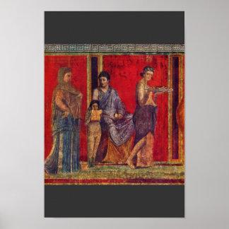 Por Pompejanischer Maler Um 60 V. Chr. Poster