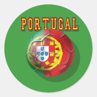 "Por Portugueses de las boleadoras de ""Portugal"" Pegatina Redonda"