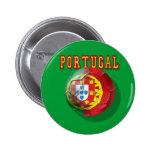 """Por Portugueses de las boleadoras de """"Portugal"""" Pin Redondo De 2 Pulgadas"""