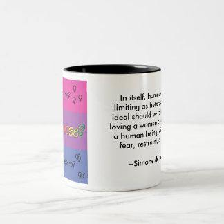 ¿Por qué elija? Cita de Simone de Beauvoir Taza De Dos Tonos
