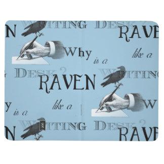 ¿Por qué es un cuervo como un escritorio? Diario Cuaderno Grapado