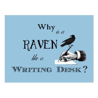 """¿""""Por qué es un cuervo como un escritorio? Postal"""