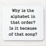 ¿Por qué está el alfabeto en esa orden? Tapete De Raton