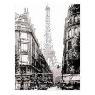 Por que eu amo Paris - Why do I love Paris Postcard