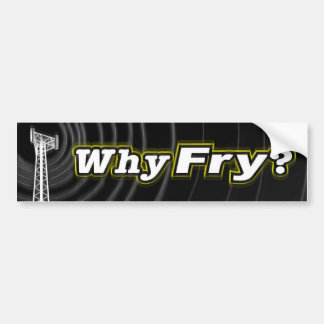 ¿Por qué fritada? Pegatina Para Auto