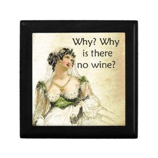 ¿Por qué hay ningún vino? Humor del vintage de Ack Caja De Joyas