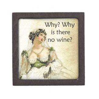 ¿Por qué hay ningún vino? Humor del vintage de Ack Cajas De Regalo De Calidad