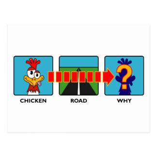 ¿Por qué hizo el pollo? Postal