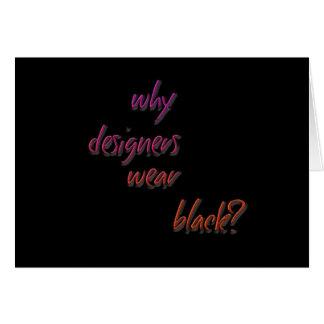 ¿Por qué los diseñadores llevan negro Tarjetón