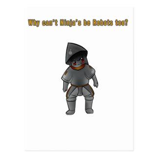 ¿Por qué no pueden los robots ser Ninja también? Tarjetas Postales