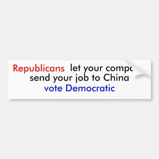 ¿Por qué republicano del voto? Etiqueta De Parachoque