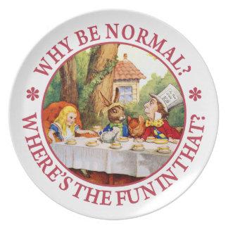 ¿Por qué sea normal ¿Dónde está la diversión en é Platos Para Fiestas