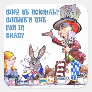 ¿Por qué sea normal? ¿Dónde está la diversión en Calcomanía Cuadradas