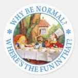 ¿Por qué sea normal? ¿Dónde está la diversión en Pegatinas Redondas