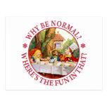 ¿Por qué sea normal? ¿Dónde está la diversión en Postales