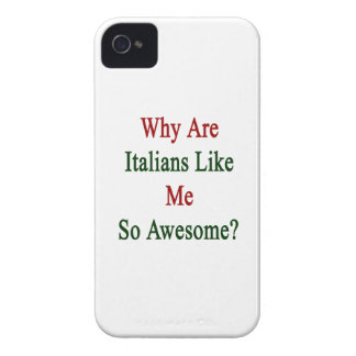 ¿Por qué son los italianos como mí tan Case-Mate iPhone 4 Protectores