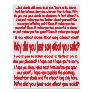 ¿Por qué usted acaba de decir lo que usted dijo? P Posters
